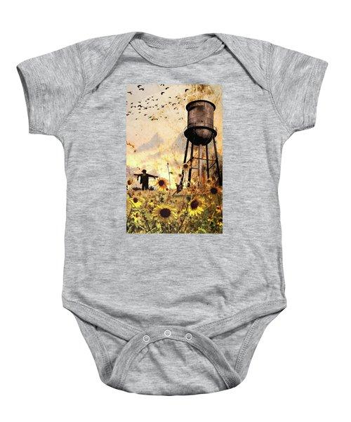 Sunflowers At Dusk Baby Onesie