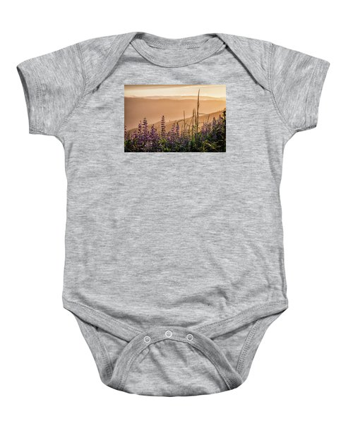 Sunset Among The Lupine Baby Onesie
