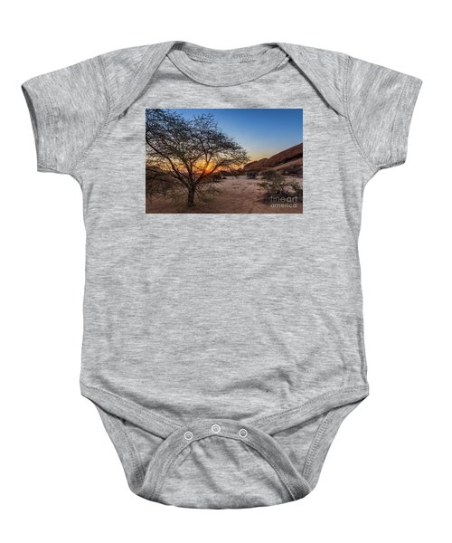 Sunset In Spitzkoppe, Namibia Baby Onesie