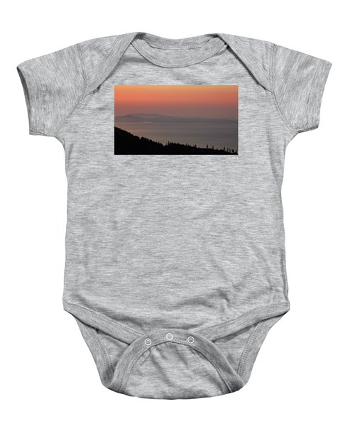 Sunset Of The Olympic Mountains Baby Onesie