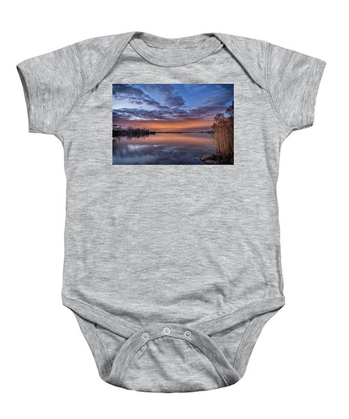 Sunset Reflection Baby Onesie