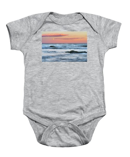 Super Moon And Sunset At Sozopol Town Beach Baby Onesie