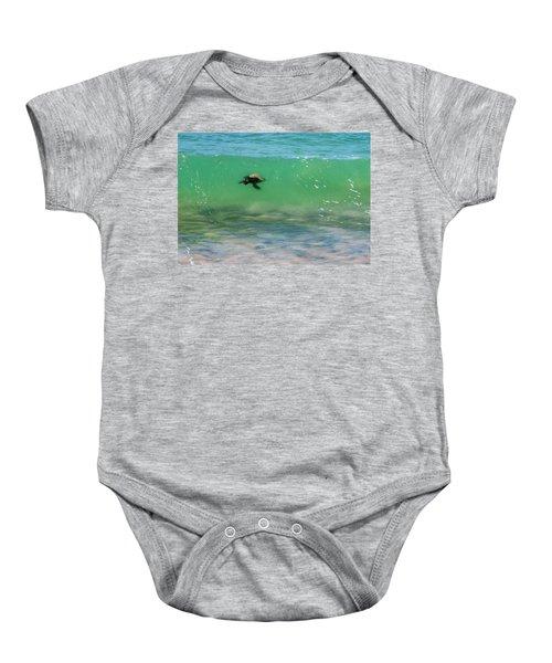 Surfing Turtle Baby Onesie