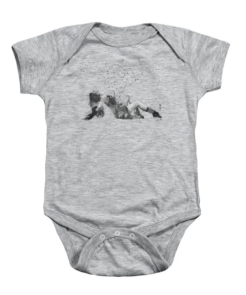 Sweet Jenny Bursting With Music In Black And White Baby Onesie
