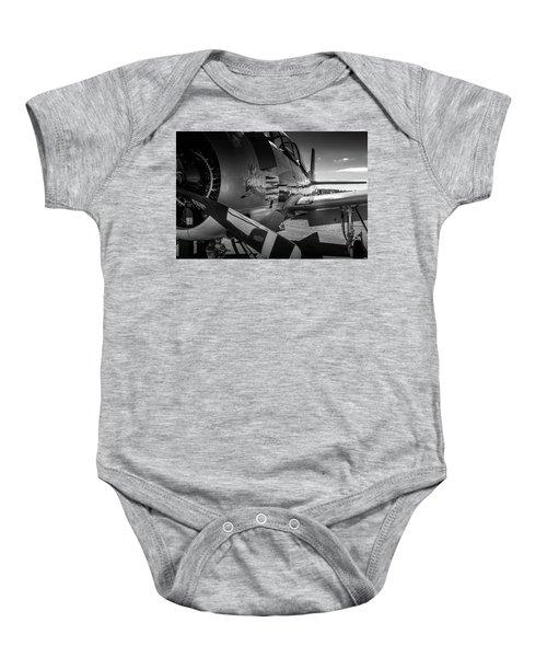 T-28b Trojan In Bw Baby Onesie