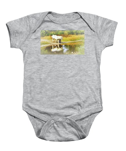 Leading The Horses To Water Baby Onesie