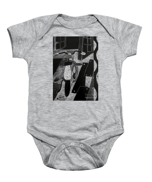 The Bicycle. Baby Onesie