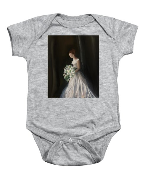 Baby Onesie featuring the painting The Big Day by Fe Jones