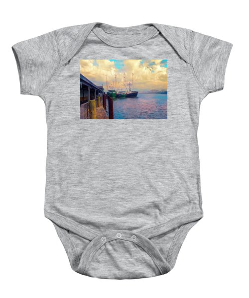 The Docks At Cape May Baby Onesie