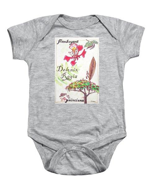 The Flamboyant Tree Baby Onesie