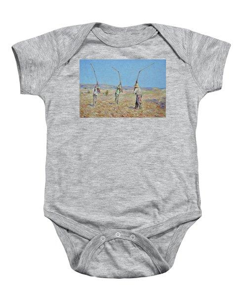 The Haymakers - Pierre Van Dijk 70x90cm Oil Baby Onesie