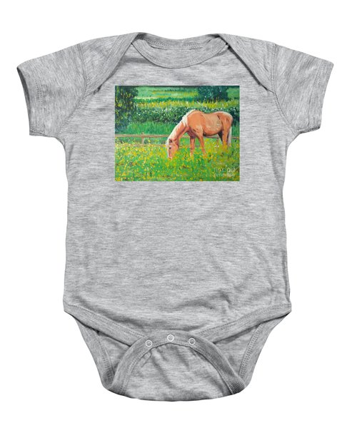 The Palomino And Buttercup Meadow Baby Onesie