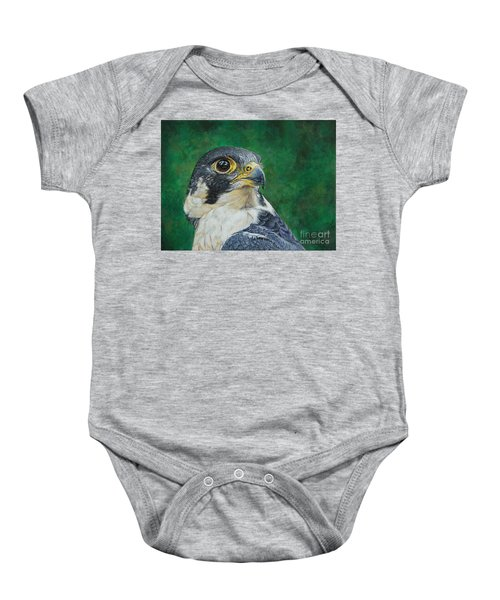 The Proud Peregrine....fastest Creature On The Planet Baby Onesie