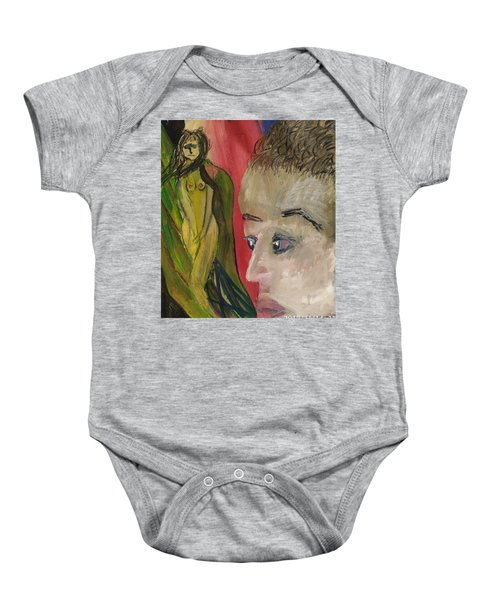 The Sexy Man With The Watery Blue Eyes Baby Onesie