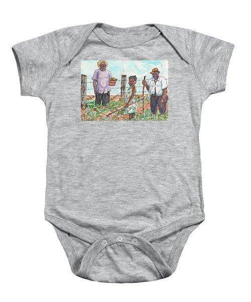 The Washington's - Our Neighbors On The Farm Baby Onesie