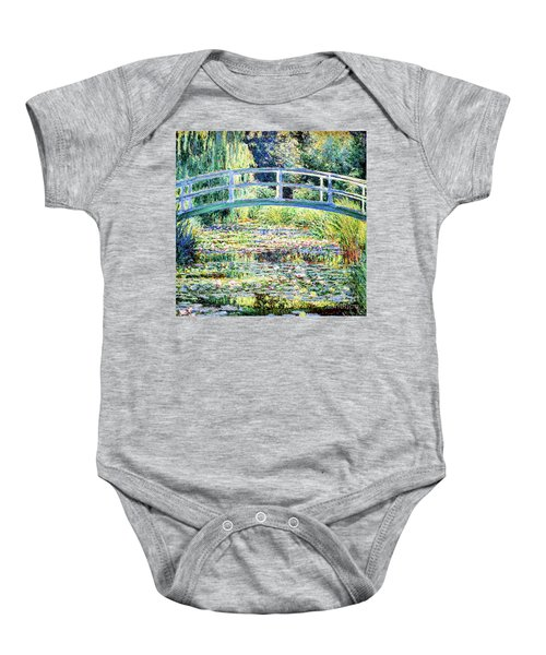 The Water Lily Pond By Monet Baby Onesie