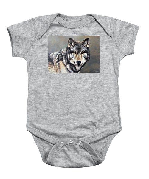 Timber Wolf By Alan M Hunt Baby Onesie