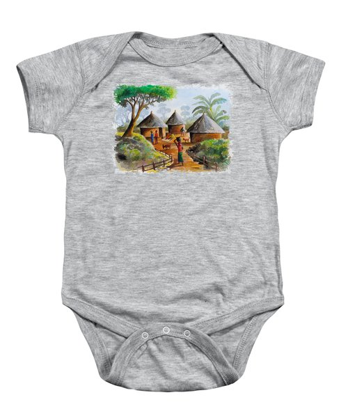 Traditional Village Baby Onesie