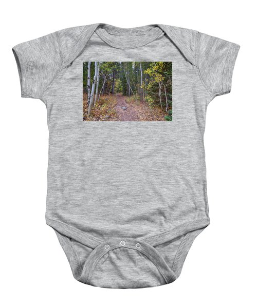 Baby Onesie featuring the photograph Trailhead by James BO Insogna