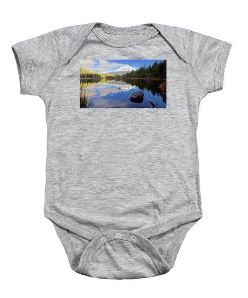 Trillium Lake November Morning Baby Onesie