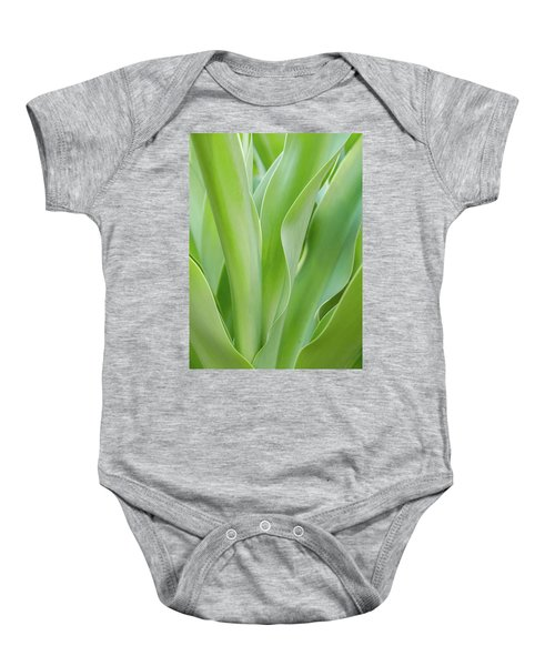 Tropical Leaf Baby Onesie