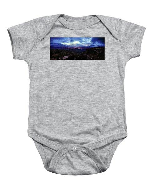 Tucson Twilight Panorama Baby Onesie