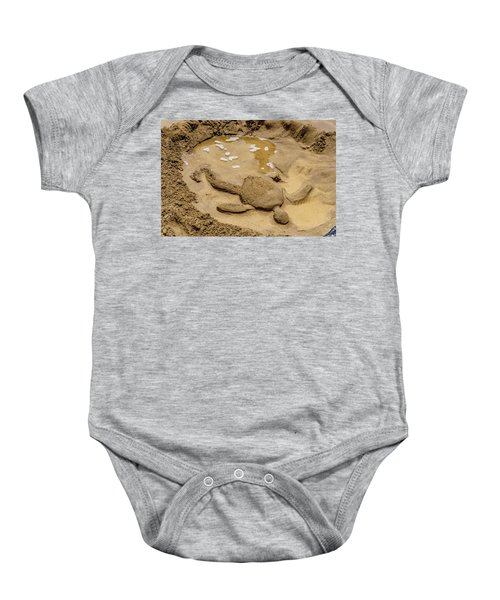 Baby Onesie featuring the photograph Turtle Resting by John Bauer