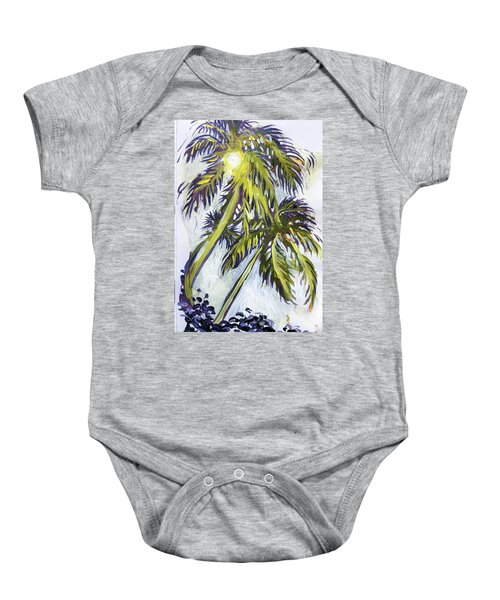 Two Palm Sketch Baby Onesie