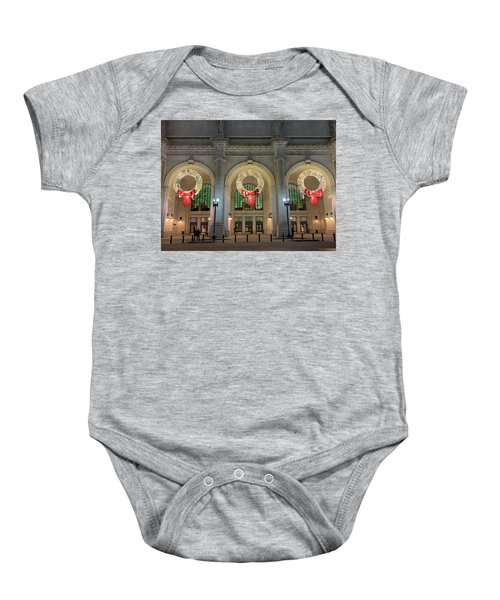 Union Station Holiday Baby Onesie
