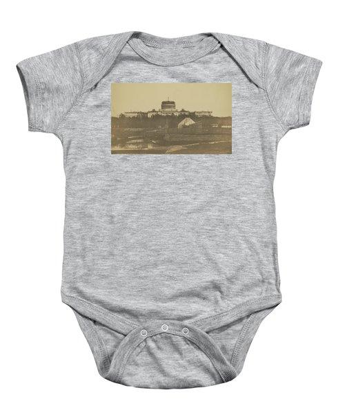 United States Capitol Under Construction Baby Onesie