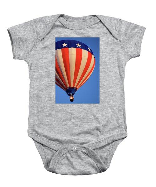 Usa Patriotic Hot Air Balloon Baby Onesie