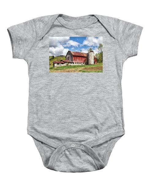 Vermont Barn And Silo  Baby Onesie