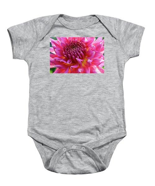 Vibrant Dahlia Baby Onesie