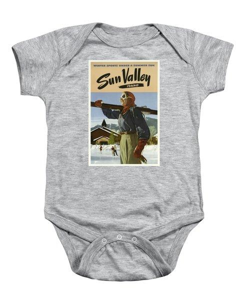 Vintage Travel Poster - Sun Valley, Idaho Baby Onesie
