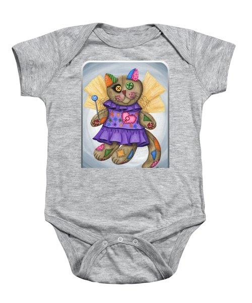 Voodoo Empress Fairy Cat Doll - Patchwork Cat Baby Onesie