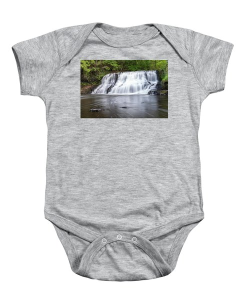 Wadsworth Falls In Middletown, Connecticut U.s.a.  Baby Onesie