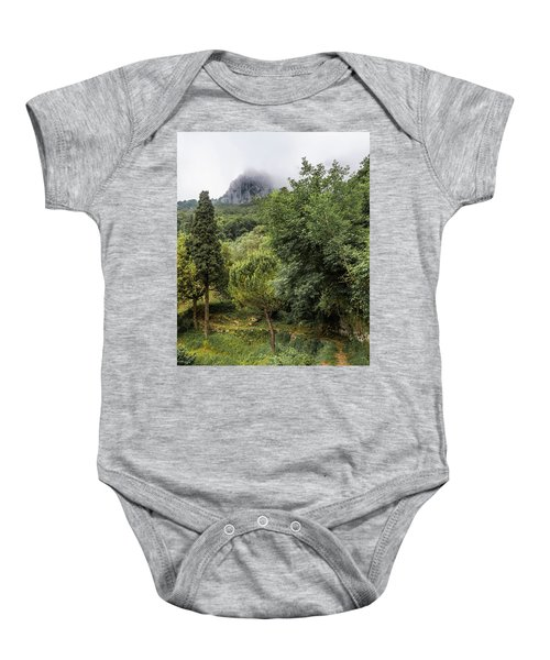 Walking Along The Mountain Path Baby Onesie