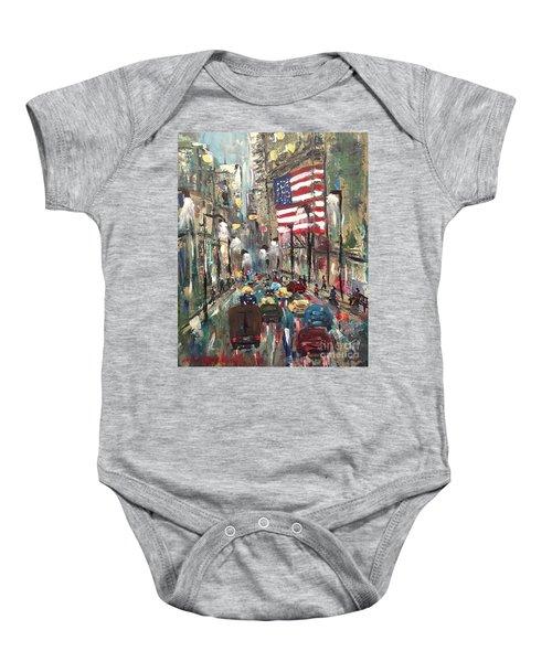 wall street NY Baby Onesie