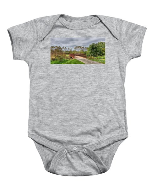 Walnut Woods Bridge - 3 Baby Onesie