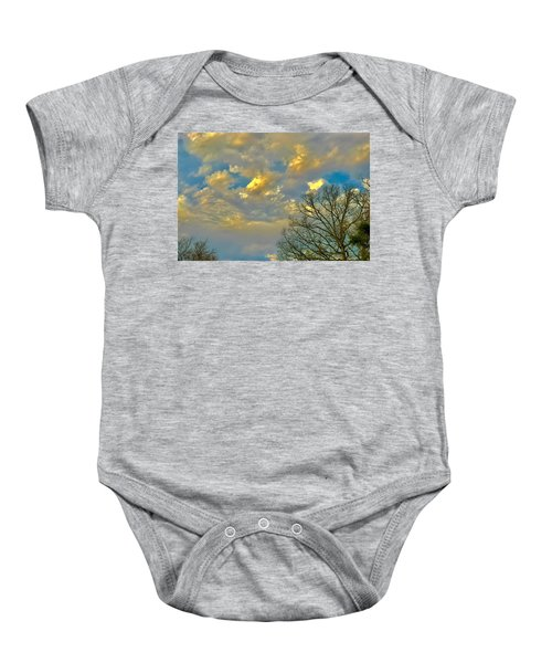 Warm And Cool Sky Baby Onesie
