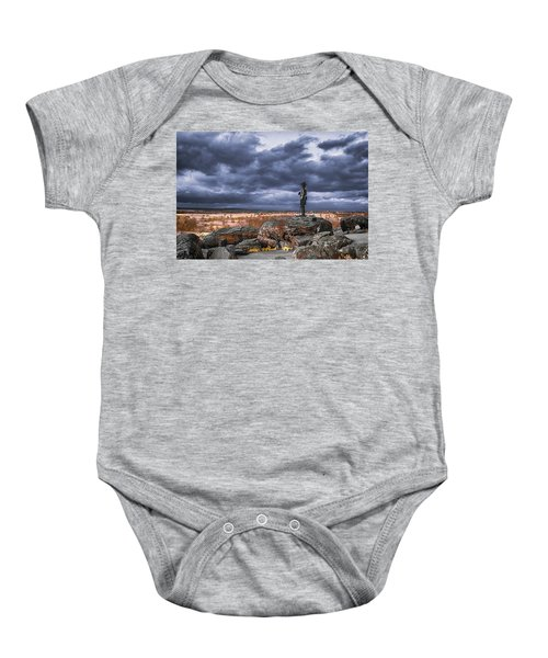 Warren In Infrared Baby Onesie