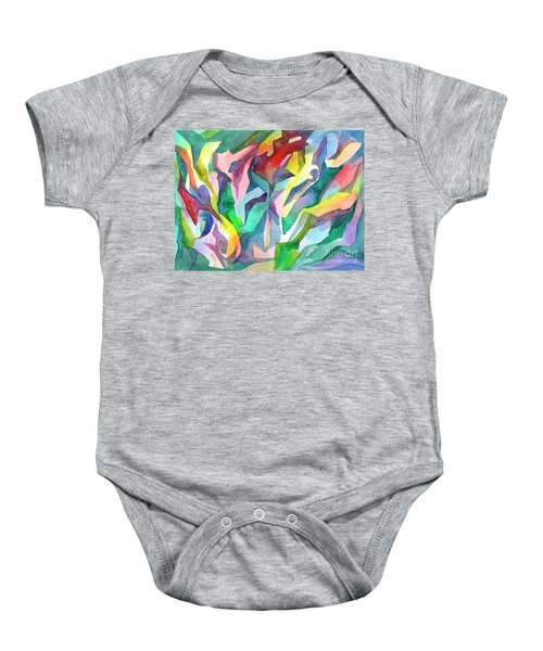 Watercolor Mosaic Baby Onesie