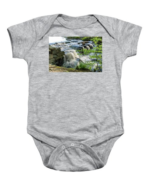 Waterfall At The Old Mill  Baby Onesie