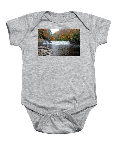 Waterfall In Autumn Baby Onesie