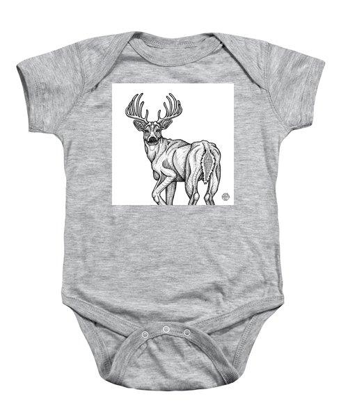 White Tailed Buck Baby Onesie