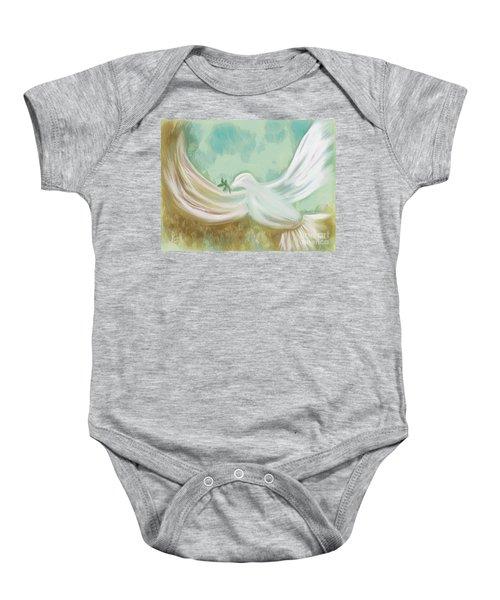 Wings Of Peace Baby Onesie