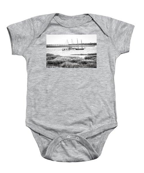 Winter Mooring - Beaufort River Baby Onesie