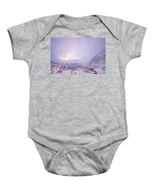 Winter Morning Light Tuckerman Ravine Baby Onesie