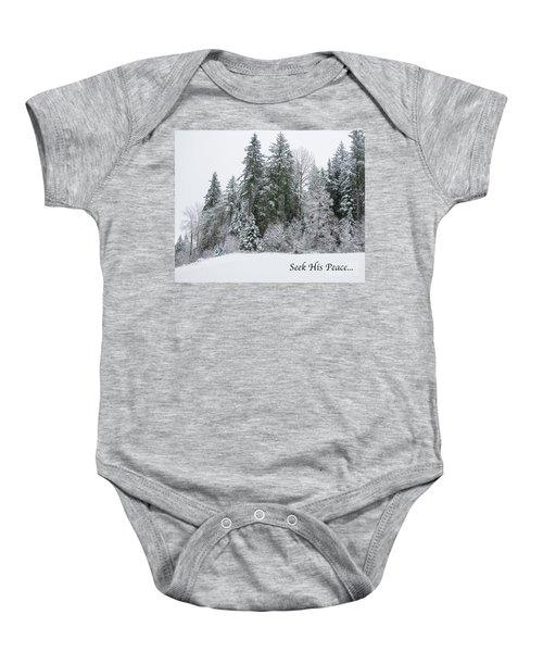 Winter Peace Baby Onesie
