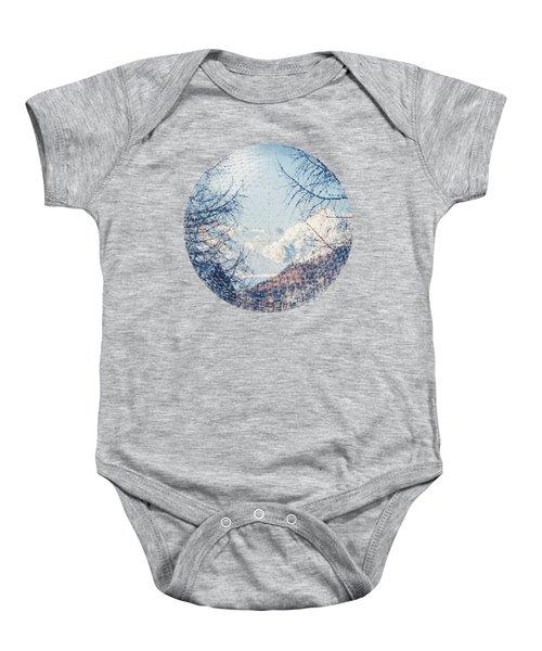 Winter Peaks Baby Onesie